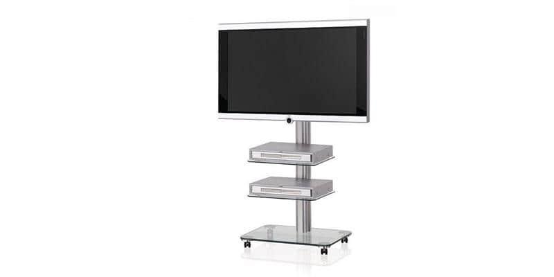 spectral floor qx1010 clair supports tv sur pied sur easylounge. Black Bedroom Furniture Sets. Home Design Ideas