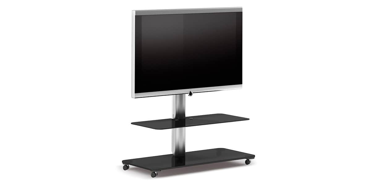 spectral floor qx1212 noir supports tv sur pied sur. Black Bedroom Furniture Sets. Home Design Ideas