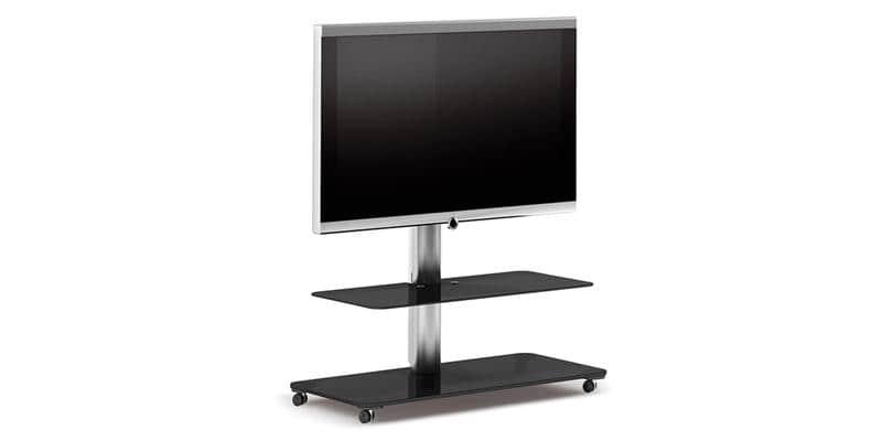 spectral floor qx1212 noir supports tv sur pied sur. Black Bedroom Furniture Sets. Home Design Ideas