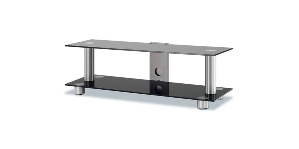 Spectral screen 102 noir meubles tv spectral sur easylounge - Meuble tv en verre trempe ...