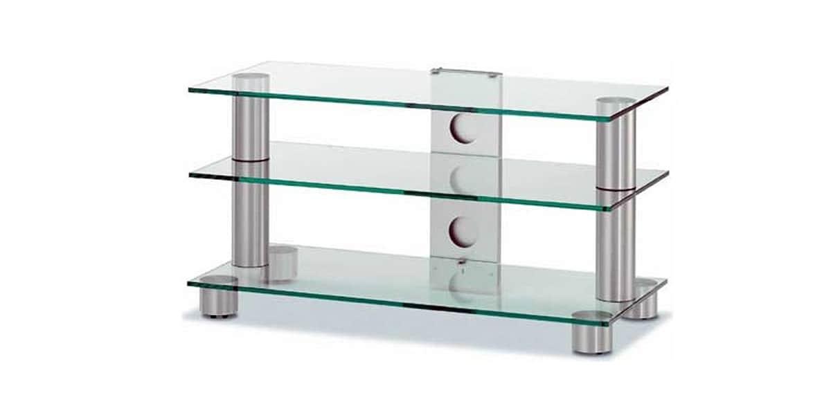 Spectral screen 133 clair meubles tv spectral sur easylounge for Meuble tv verre