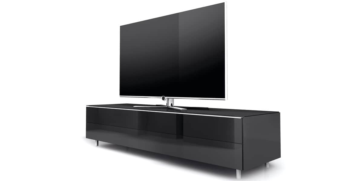 meuble tv bas noir. Black Bedroom Furniture Sets. Home Design Ideas