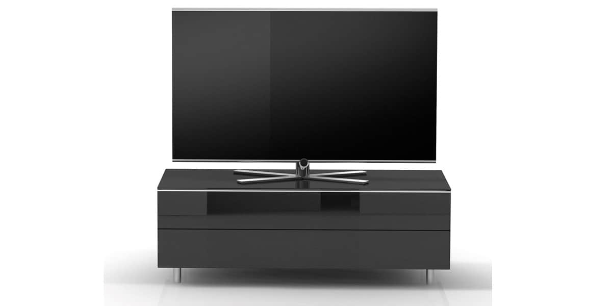 Spectral scala 1100 noir meubles tv spectral sur easylounge for Meuble bas tv noir