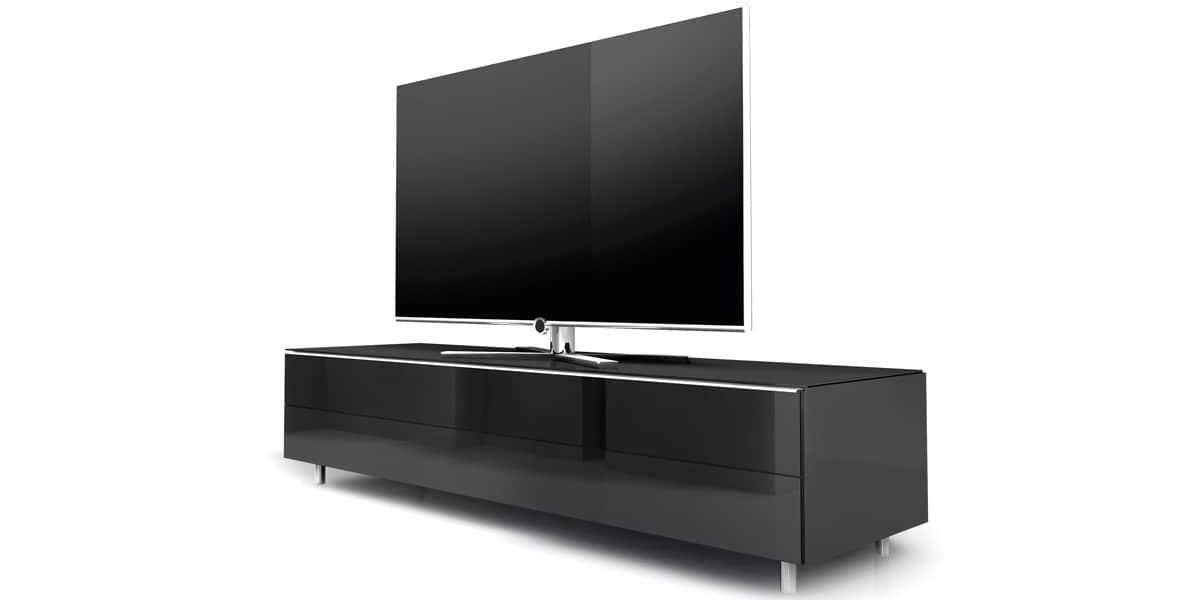Spectral sc1100 scg1 noir meubles tv spectral sur easylounge for Long meuble tv bas