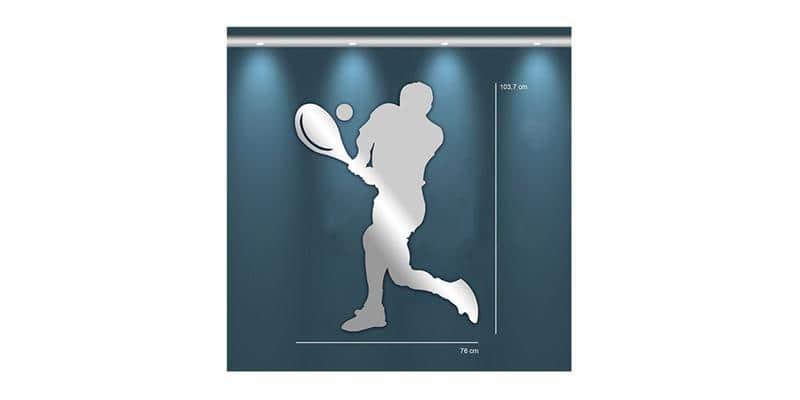 Tendance Miroir Joueur de Tennis L