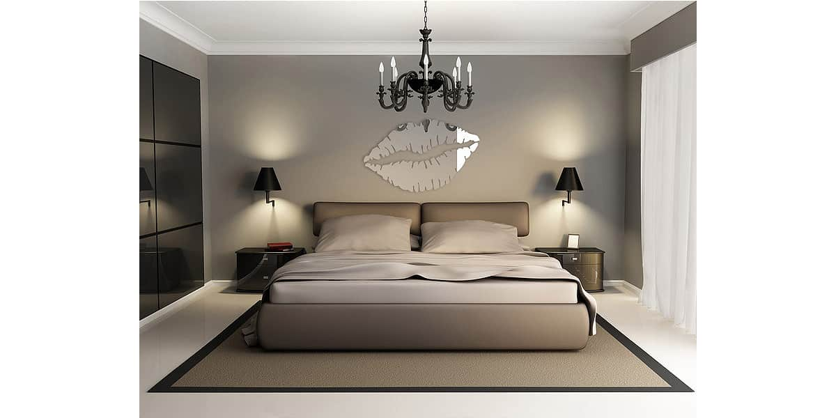 tendance miroir kiss l miroirs d co sur easylounge. Black Bedroom Furniture Sets. Home Design Ideas