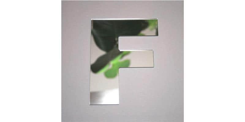 Tendance Miroir Lettre F Large