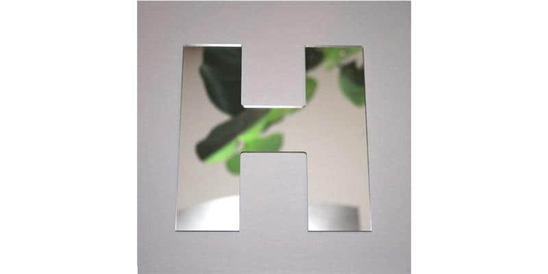 Tendance Miroir Lettre H Large