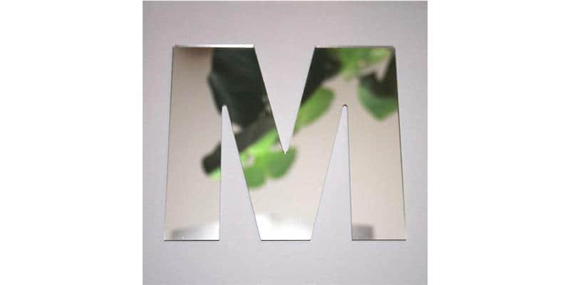 Tendance Miroir Lettre M Large