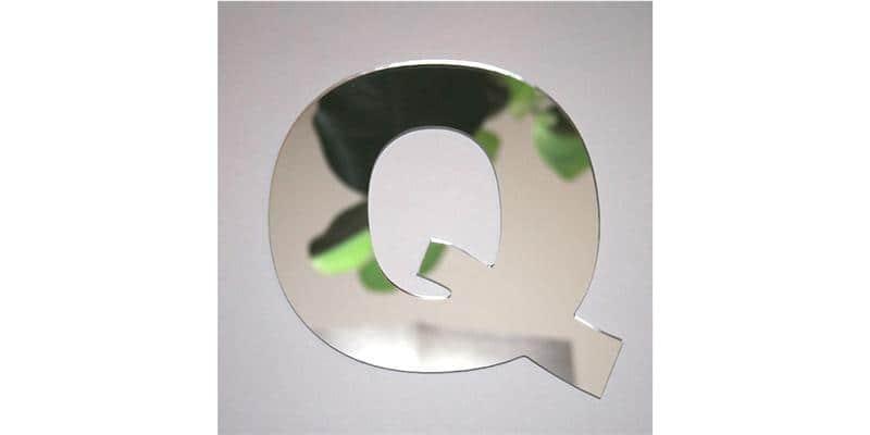 Tendance Miroir Lettre Q Large