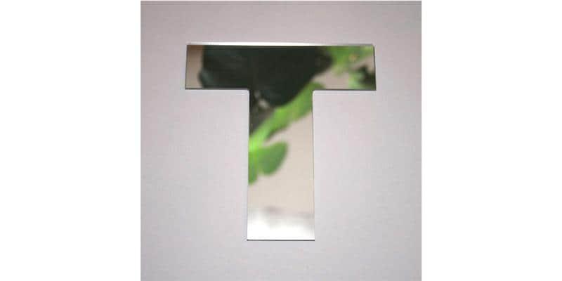 Tendance Miroir Lettre T Large