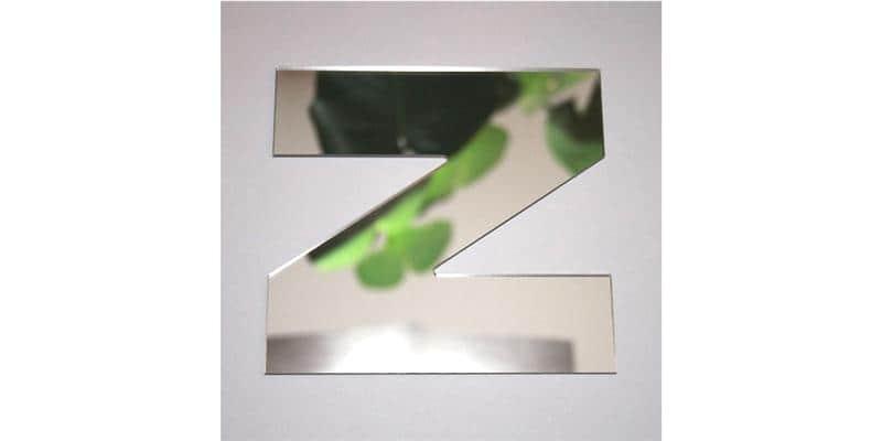 Tendance Miroir Lettre Z Large
