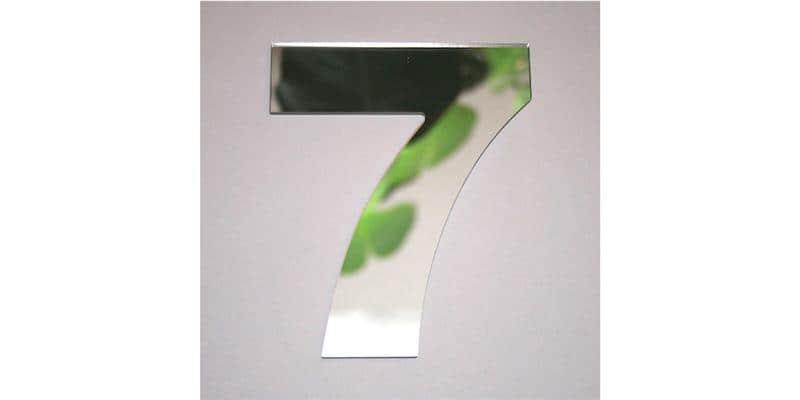 Tendance Miroir Chiffre 7 Small