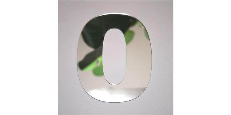 Tendance Miroir Chiffre 0 L
