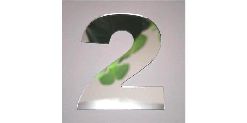 Tendance Miroir Chiffre 2 L