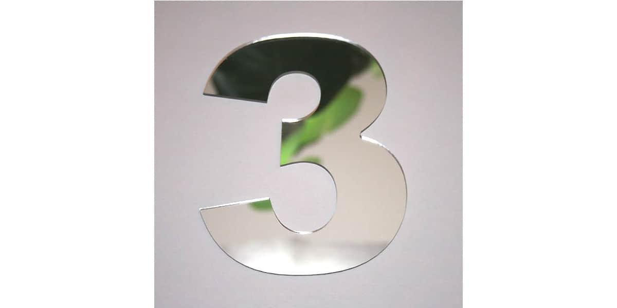 Tendance miroir chiffre 3 l miroirs d co sur easylounge for Miroir tendance