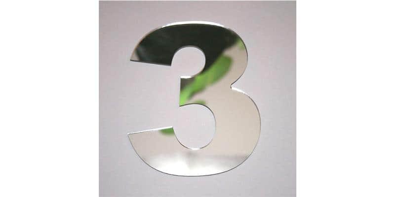 Tendance Miroir Chiffre 3 L