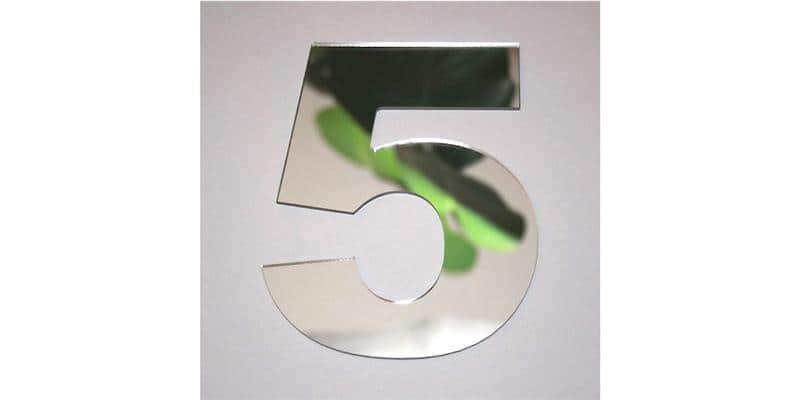 Tendance Miroir Chiffre 5 L