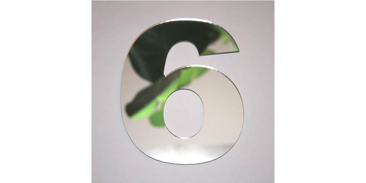 Tendance miroir chiffre 6 big miroirs d co sur easylounge for Miroir tendance