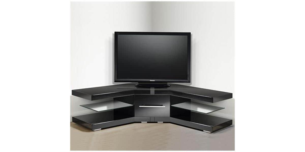 meuble tv d angle noir. Black Bedroom Furniture Sets. Home Design Ideas
