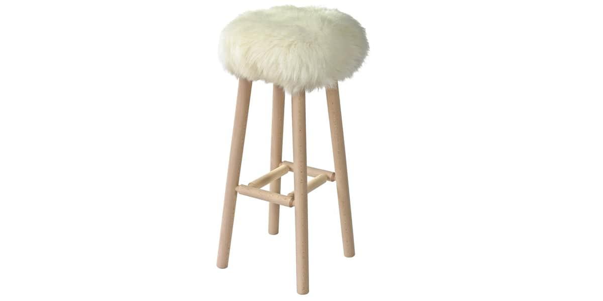 fab design stool large poils courts blanc easylounge. Black Bedroom Furniture Sets. Home Design Ideas