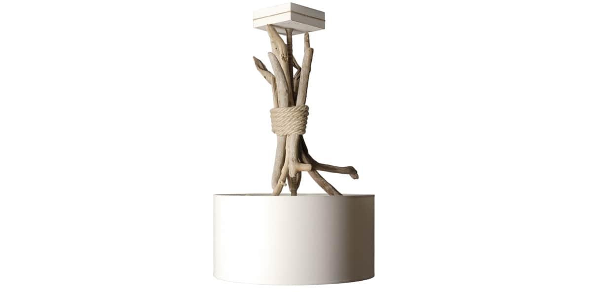 Coc 39 art bois flott sl blanc suspensions luminaires sur for Bois flotte blanc