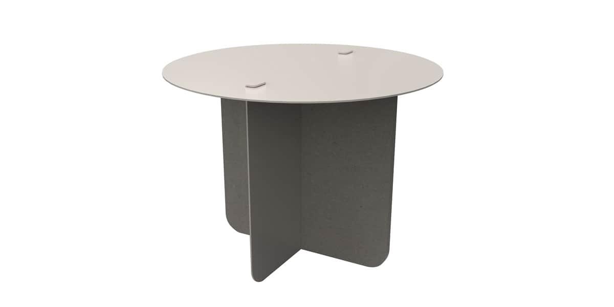 Entreautre verso grise ronde tables basses sur easylounge - Table basse ronde grise ...