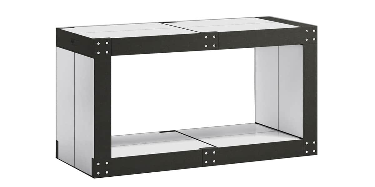Fabulem table basse modulable blanche et noire easylounge - Table basse blanche et noire ...