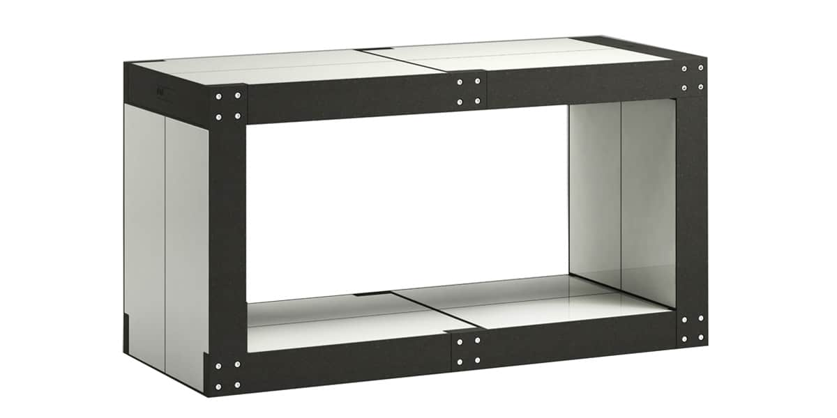 Fabulem table basse modulable gris clair easylounge for Table basse bois gris clair