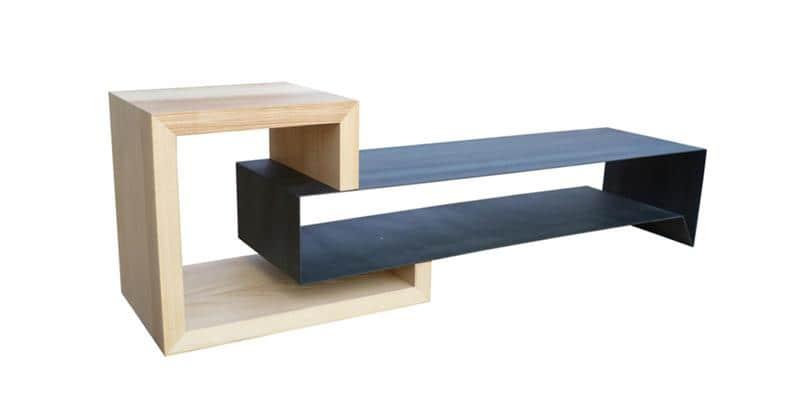 Atelier mobibois meuble tv steel meubles tv divers sur for Meuble tv style atelier