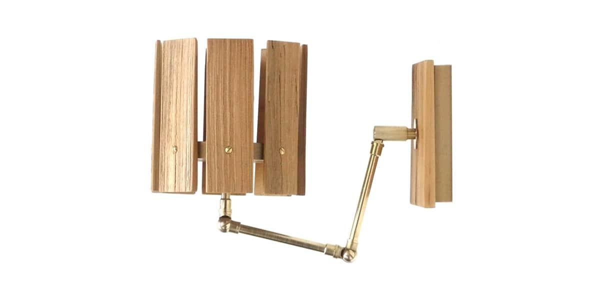 casareva applique articul e en bois appliques murales sur easylounge. Black Bedroom Furniture Sets. Home Design Ideas