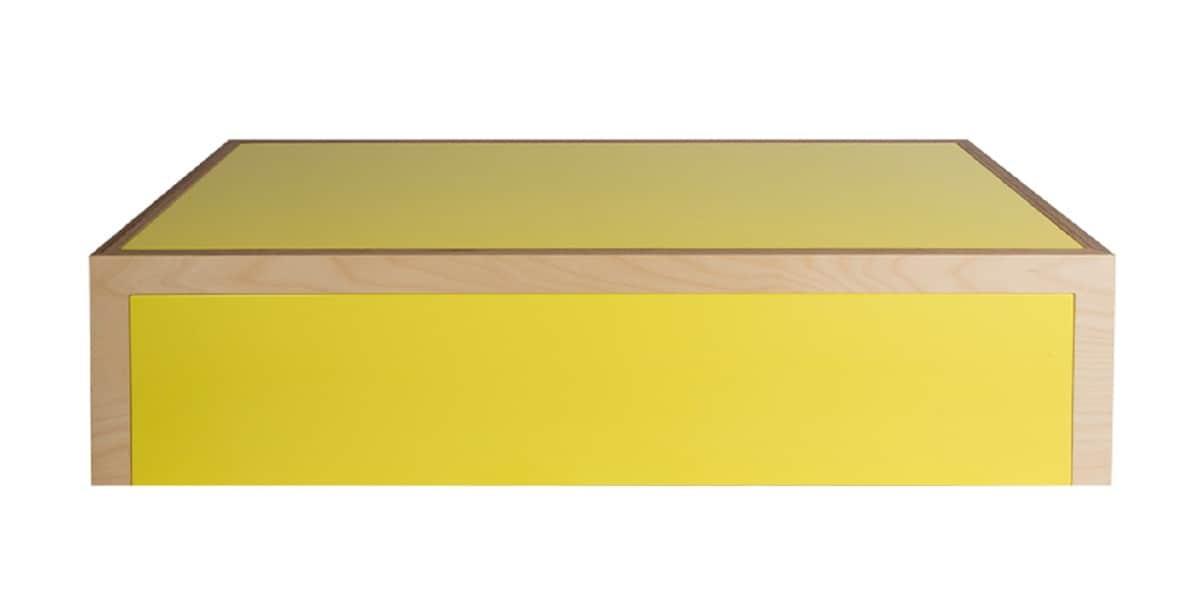 malherbe edition faux semblant jaune tables basses sur easylounge. Black Bedroom Furniture Sets. Home Design Ideas