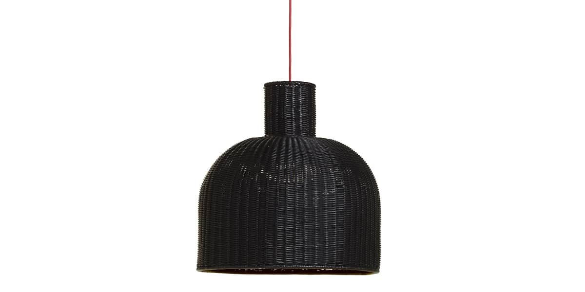 Kok maison suspension abat jour noir easylounge for Suspension rotin noir