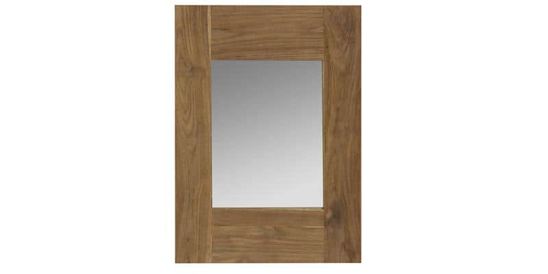 Kok maison miroir 70x50 marron miroirs d co sur easylounge for Miroir marron