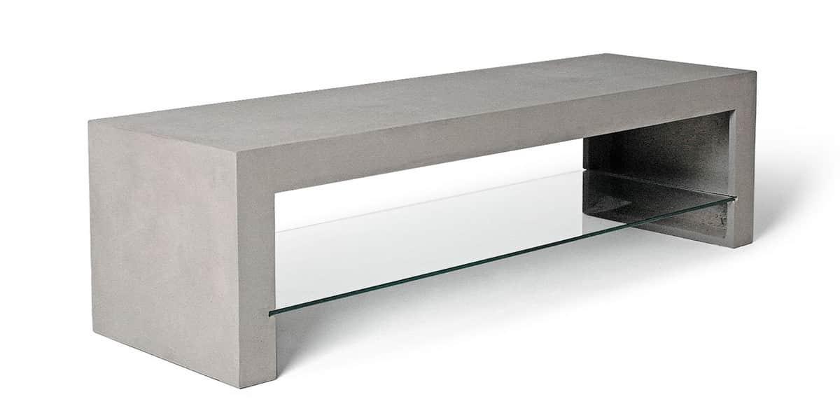 lyon b ton d borah gris meubles tv bas sur easylounge. Black Bedroom Furniture Sets. Home Design Ideas
