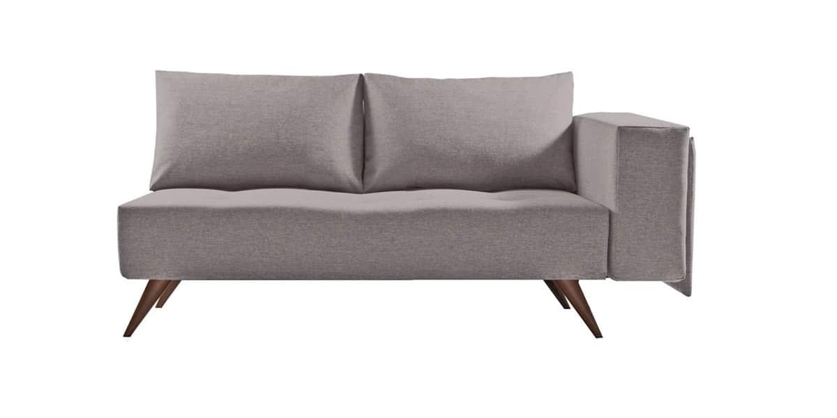 Ultra sofa callista gris 2p80 canap s droits sur easylounge - Canape faible profondeur ...