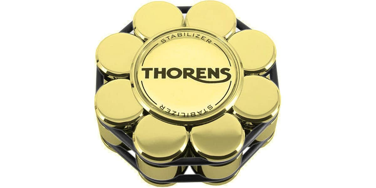 Vinyle Galet : Thorens stabilizer gold accessoires pour vinyle sur
