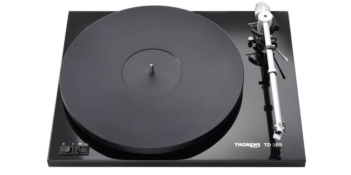 Thorens TD203 Noire Laquée