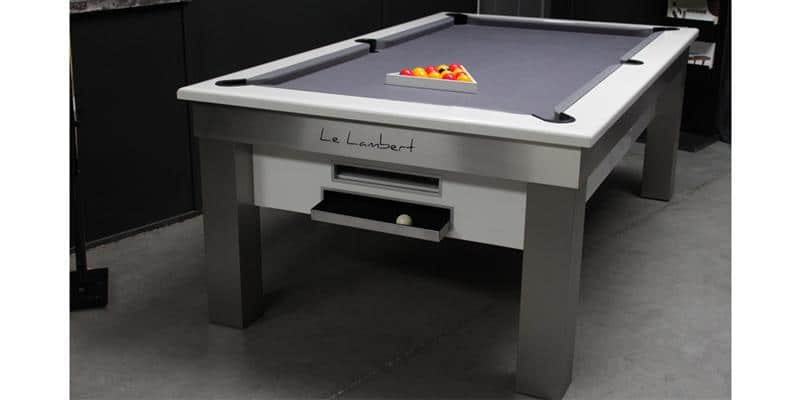 billards toulet lambert blanc tables de billard sur easylounge. Black Bedroom Furniture Sets. Home Design Ideas