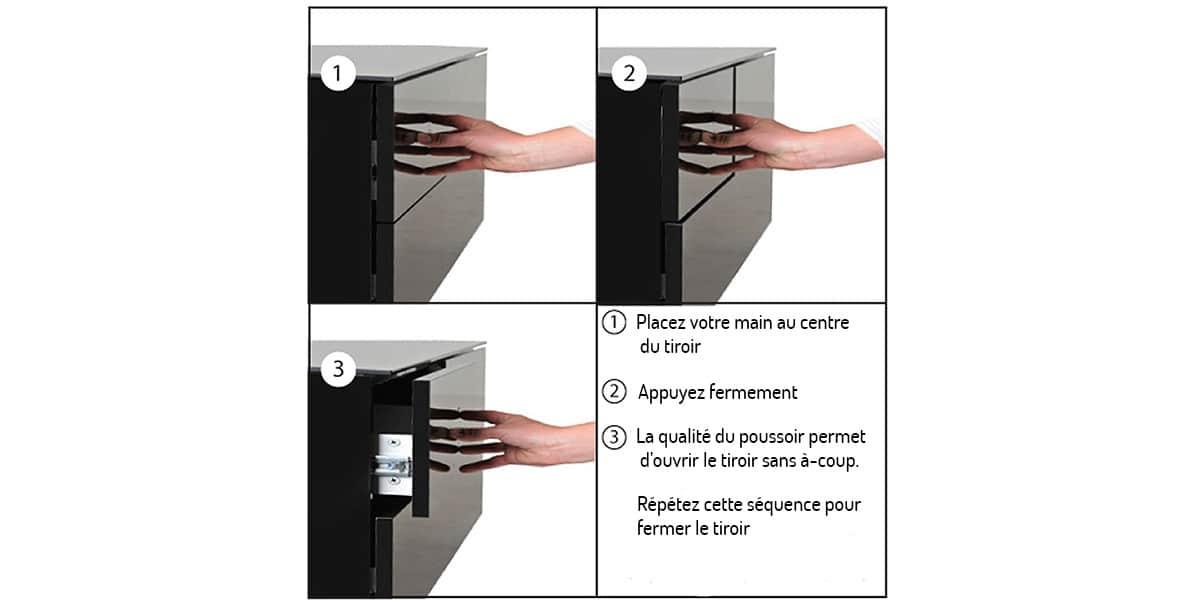 Uk cf paris noir meubles tv divers sur easylounge - Meuble tv infrarouge ...