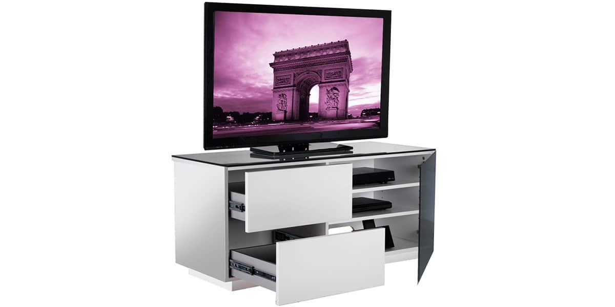 Uk cf paris blanc et noir meubles tv divers sur easylounge - Meuble tv infrarouge ...