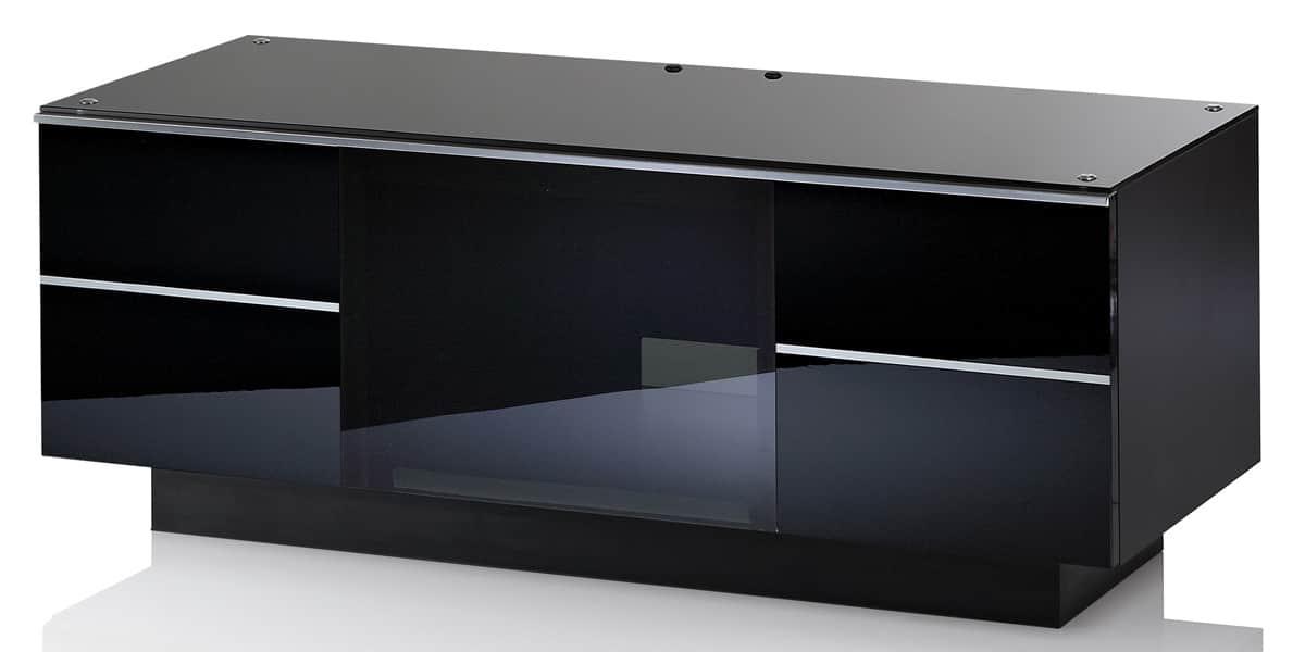 Ultimate gg110 noir meubles tv ultimate sur easylounge for Meuble tv haut noir