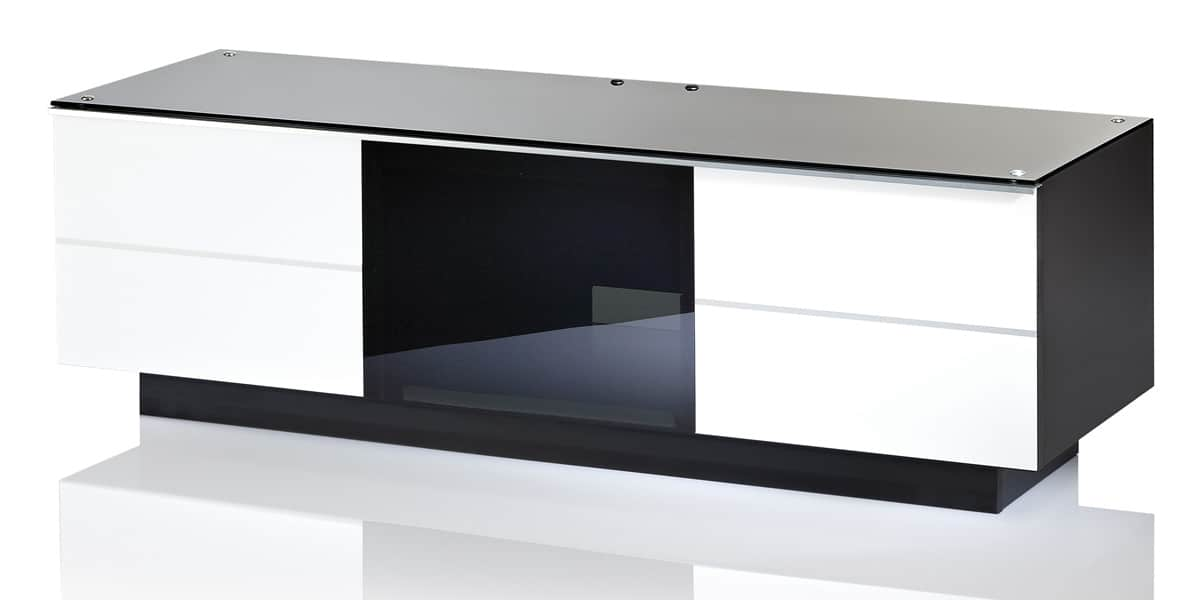 ultimate gg135 blanc meubles tv ultimate sur easylounge. Black Bedroom Furniture Sets. Home Design Ideas