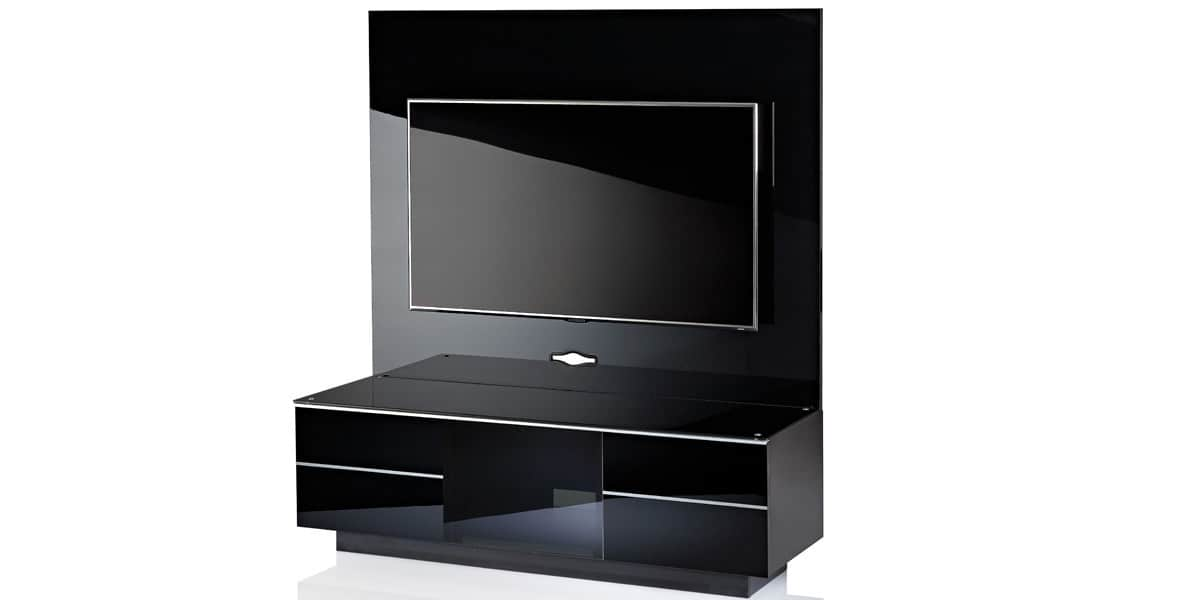 Ultimate gplate gg135 noir meubles tv ultimate sur easylounge - Meuble tv avec support ...