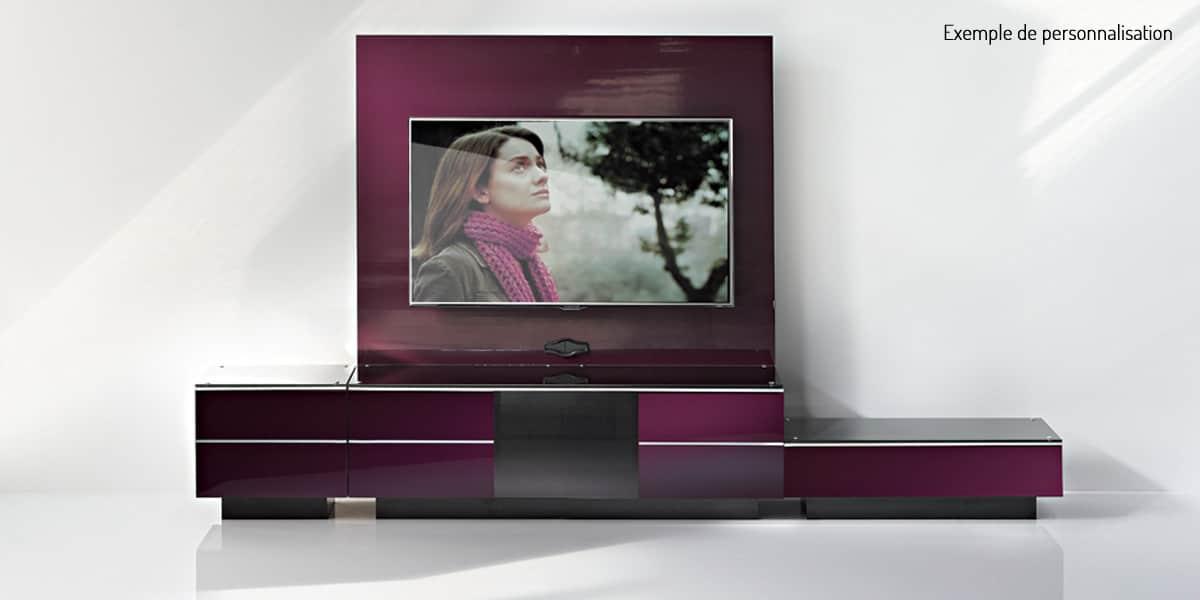 ultimate g s 110 pourpre meubles tv ultimate sur easylounge. Black Bedroom Furniture Sets. Home Design Ideas