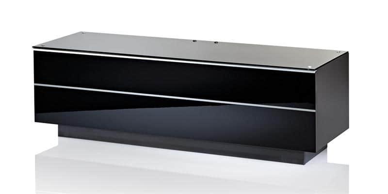 Ultimate meuble banc tv ultimate gs135 noir for Meuble tv ovio