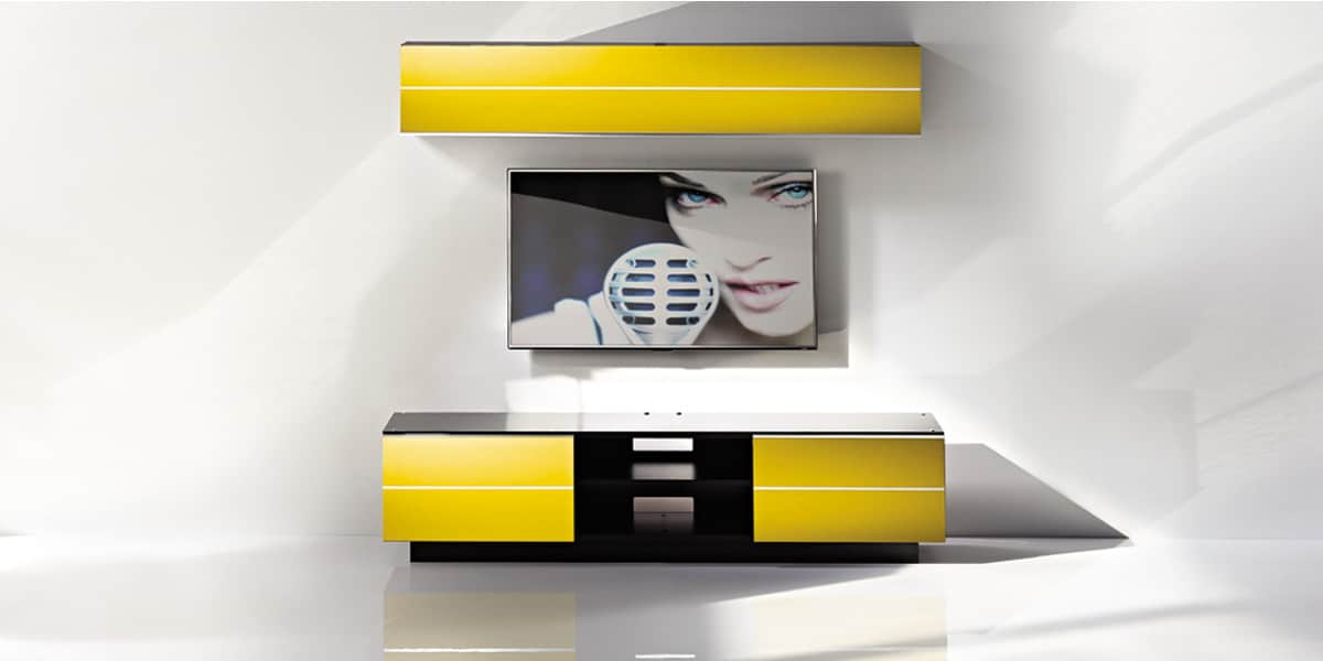 Ultimate G S 180 Jaune Meubles Tv Ultimate Sur Easylounge