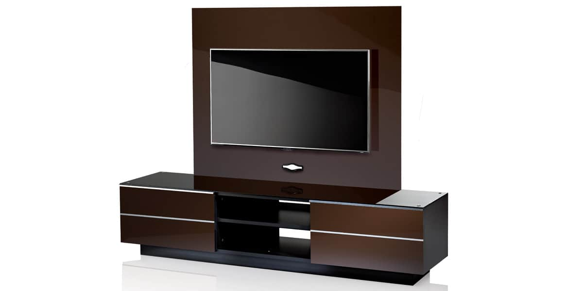 ultimate gplate gs 180 marron meubles tv ultimate sur. Black Bedroom Furniture Sets. Home Design Ideas