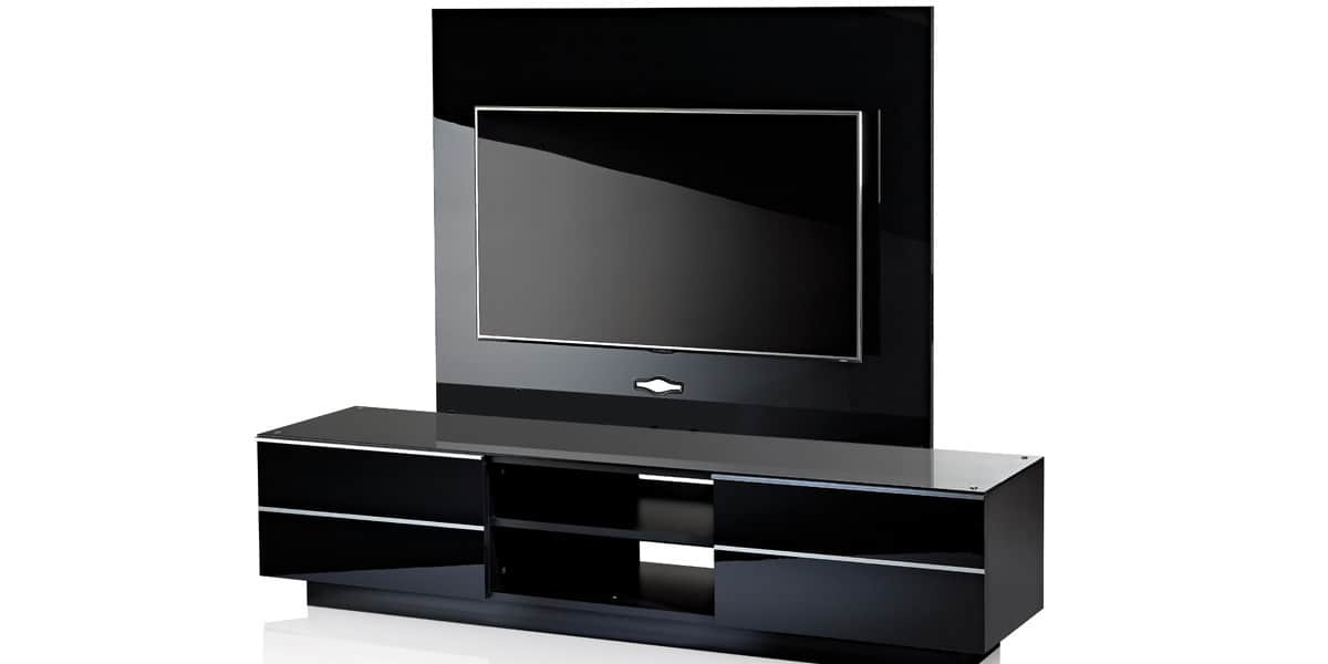 Ultimate gplate gs180 noir meubles tv ultimate sur - Support mural tv avec cache cable ...