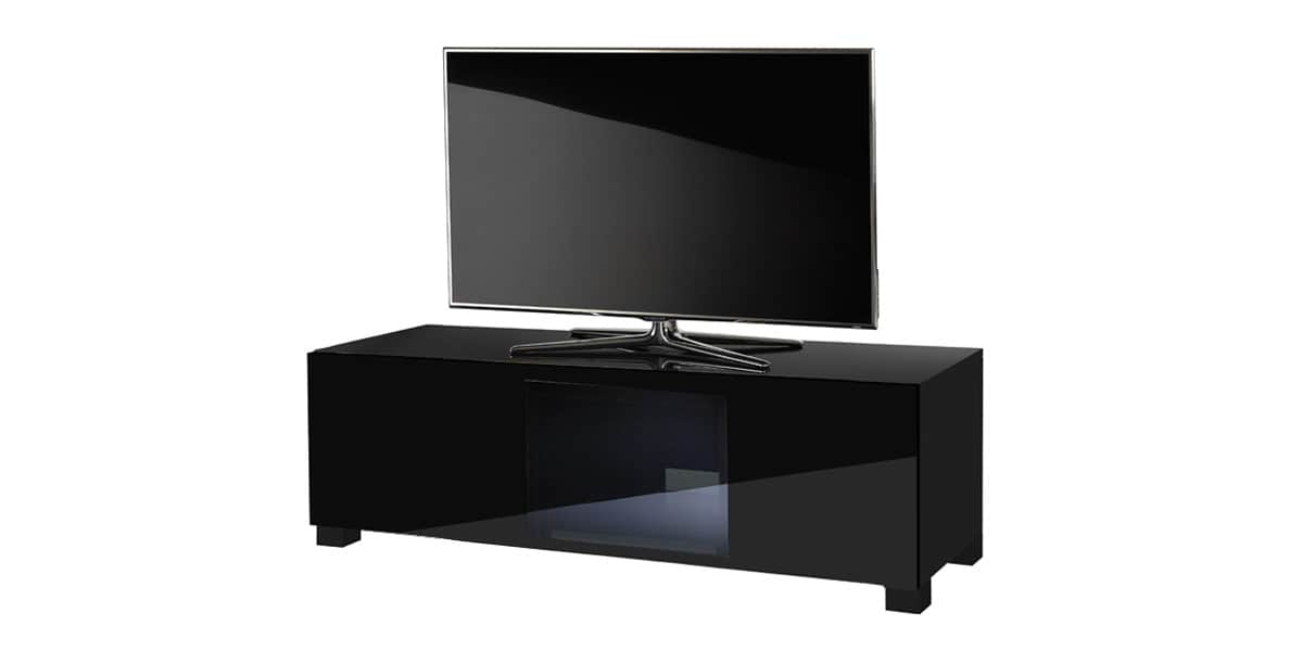 ultimate s line120 noir meubles tv ultimate sur easylounge. Black Bedroom Furniture Sets. Home Design Ideas